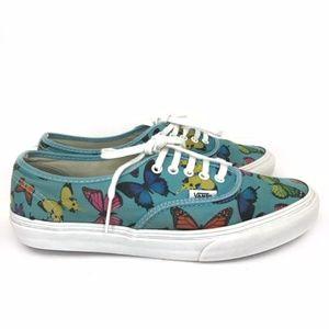 Vans Authentic Slim Butterflies (Scuba Blue) 9